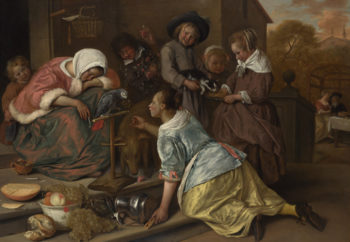The Effects of Intemperance | Jan Steen | oil painting