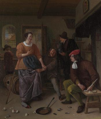 The Interior of an Inn (The Broken Eggs) | Jan Steen | oil painting