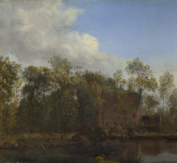 A Farm among Trees | Jan van der Heyden | oil painting
