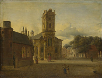 A Square before a Church | Jan van der Heyden | oil painting