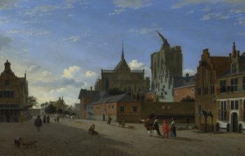 A View in Cologne | Jan van der Heyden | oil painting