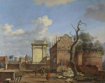 An Architectural Fantasy | Jan van der Heyden | oil painting