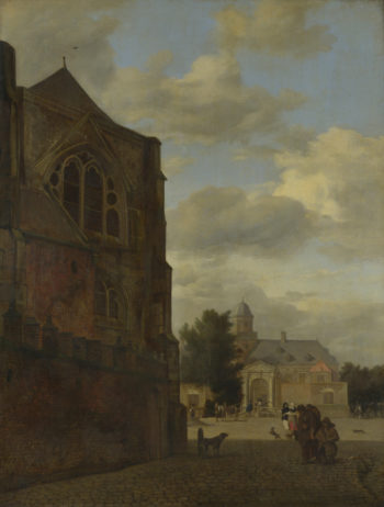 An Imaginary View of Nijenrode Castle | Jan van der Heyden | oil painting