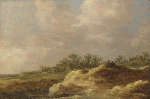 A Cottage on a Heath   Jan van Goyen   oil painting