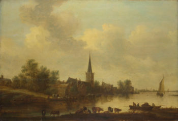A River Landscape | Jan van Goyen | oil painting