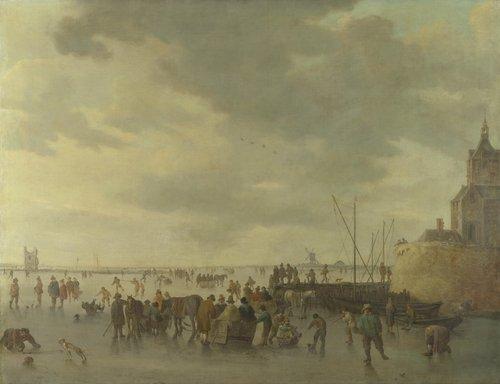 A Scene on the Ice near Dordrecht | Jan van Goyen | oil painting