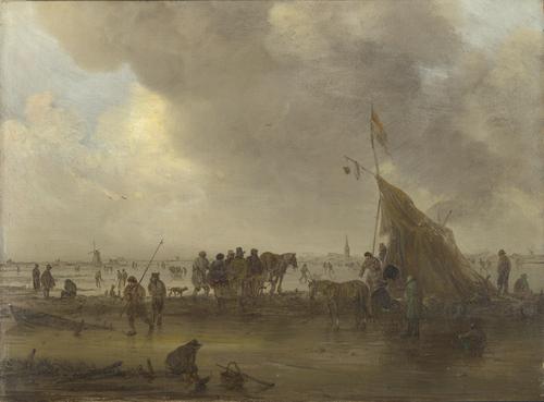 A Scene on the Ice | Jan van Goyen | oil painting