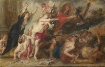 The Horrors of War | After Peter Paul Rubens | oil painting
