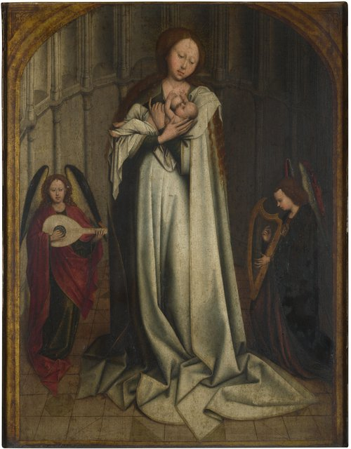 The Virgin and Child in an Apse with Two Angels | After Robert Campin | oil painting