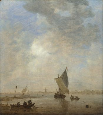 Fishermen hauling a Net | Jan van Goyen | oil painting