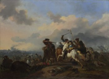 A Battle | Jan van Huchtenburgh | oil painting