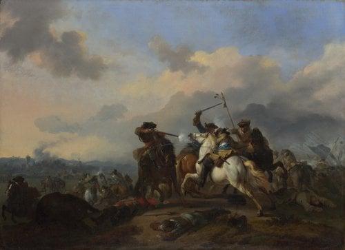 A Battle   Jan van Huchtenburgh   oil painting