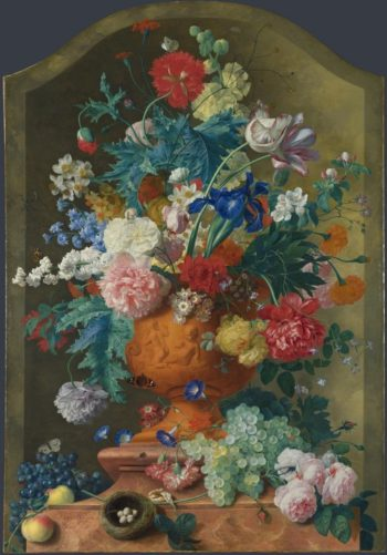 Flowers in a Terracotta Vase | Jan van Huysum | oil painting