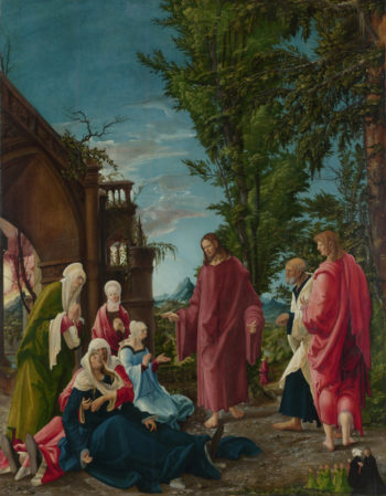 Christ taking Leave of his Mother | Albrecht Altdorfer | oil painting