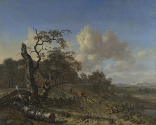 A Landscape with a Dead Tree | Jan Wijnants | oil painting