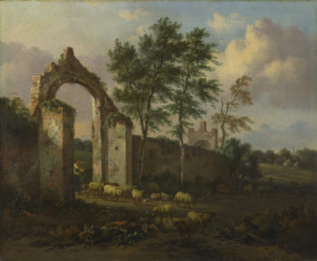 A Landscape with a Ruined Archway | Jan Wijnants | oil painting