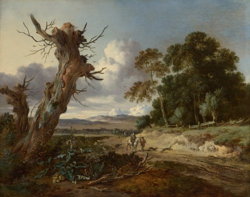 A Landscape with Two Dead Trees | Jan Wijnants | oil painting