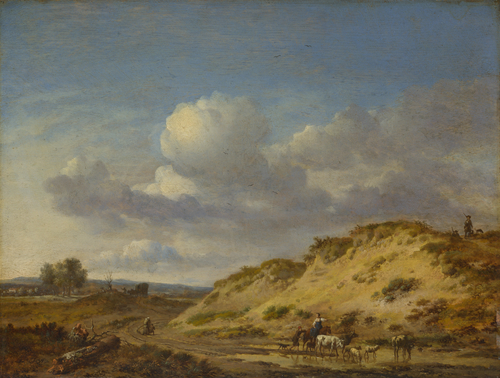 Peasants driving Cattle and Sheep | Jan Wijnants | oil painting