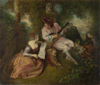 The Scale of Love | Jean-Antoine Watteau | oil painting