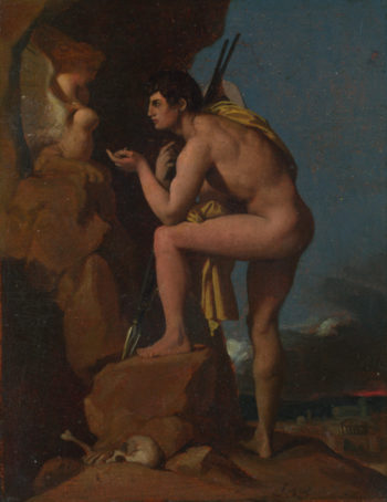 Oedipus and the Sphinx   Jean-Auguste-Dominique Ingres   oil painting