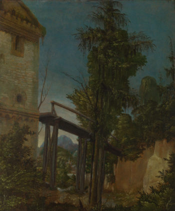 Landscape with a Footbridge | Albrecht Altdorfer | oil painting