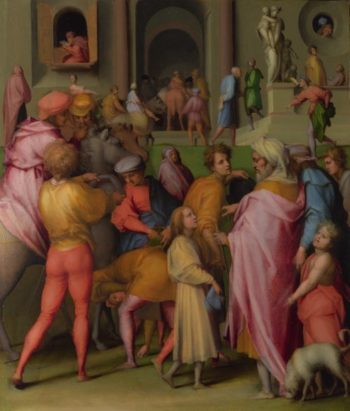 Joseph sold to Potiphar | Pontormo | oil painting