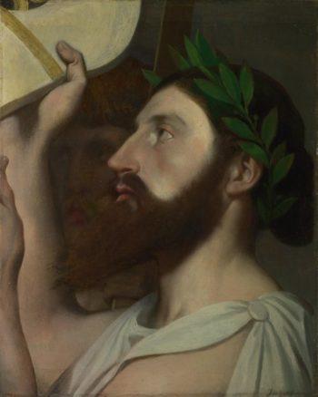Pindar and Ictinus   Jean-Auguste-Dominique Ingres   oil painting