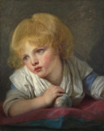 A Child with an Apple | Jean-Baptiste Greuze | oil painting