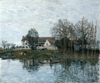 The Seine at Port-Marly | Alfred Sisley | oil painting