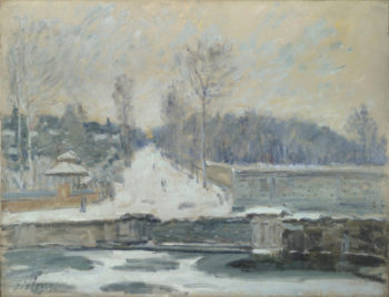 The Watering Place at Marly-le-Roi | Alfred Sisley | oil painting