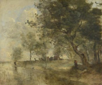 A Flood | Jean-Baptiste-Camille Corot | oil painting