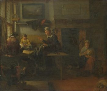 Interior of a Tailor's Shop | Quiringh van Brekelenkam | oil painting
