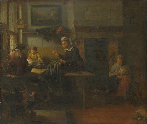 Interior of a Tailor's Shop | Quiringh van Brekelenkam | oil painting