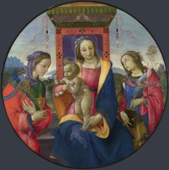 The Virgin and Child with Saints | Raffaellino del Garbo | oil painting
