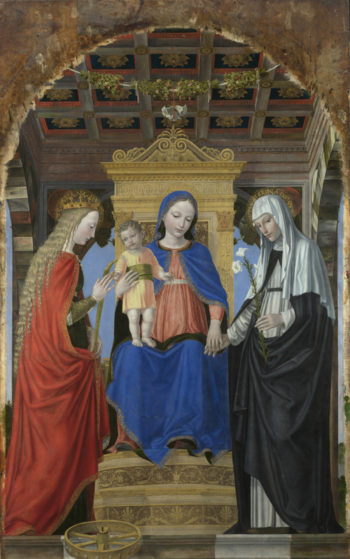 The Virgin and Child with Saints | Ambrogio Bergognone | oil painting