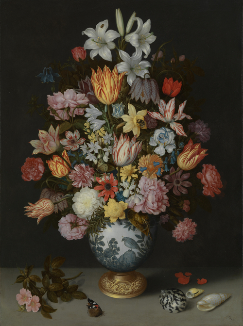 A Still Life of Flowers in a Wan-Li Vase | Ambrosius Bosschaert the Elder | oil painting