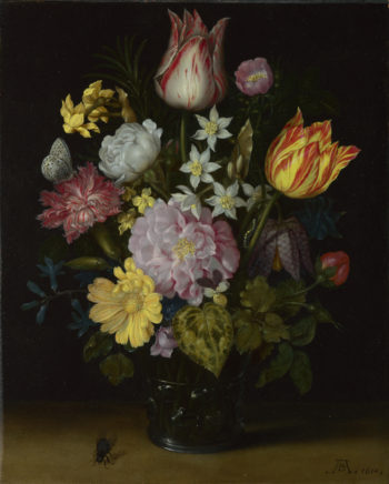 Flowers in a Glass Vase | Ambrosius Bosschaert the Elder | oil painting
