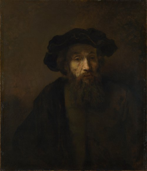 A Bearded Man in a Cap | Rembrandt | oil painting