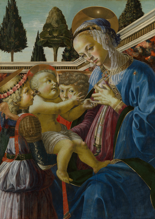 The Virgin and Child with Two Angels | Andrea del Verrocchio | oil painting