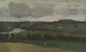 The Seine near Rouen | Jean-Baptiste-Camille Corot | oil painting