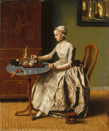 A Lady pouring Chocolate (La Chocolatiare) | Jean-Etienne Liotard | oil painting