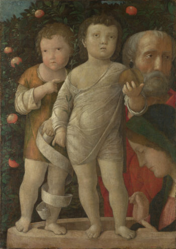 The Holy Family with Saint John | Andrea Mantegna | oil painting