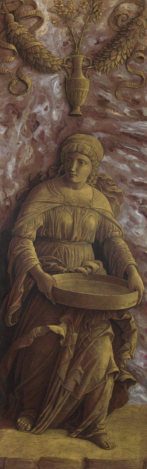 The Vestal Virgin Tuccia with a sieve   Andrea Mantegna   oil painting