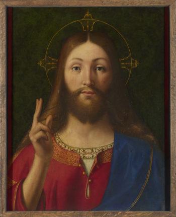 Christ Blessing | Andrea Previtali | oil painting