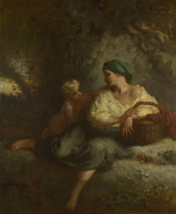 The Whisper | Jean-Francois Millet | oil painting