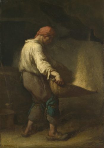 The Winnower | Jean-Francois Millet | oil painting