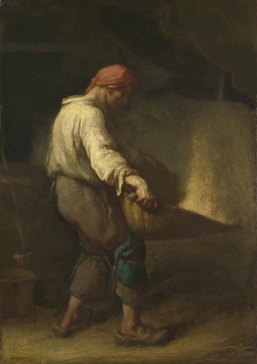 The Winnower | Jean-Francois Millet | oil painting