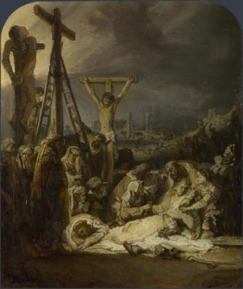 The Lamentation over the Dead Christ | Rembrandt | oil painting
