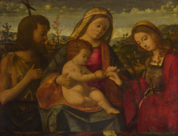 The Virgin and Child with Saints | Andrea Previtali | oil painting