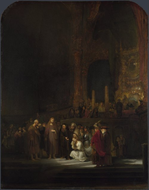 The Woman taken in Adultery | Rembrandt | oil painting